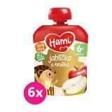 6x HAMI Ovocná kapsička Jabĺčko a hruška 90 g