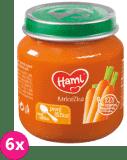6x HAMI Prvá lyžička mrkva 125 g - zeleninový príkrm