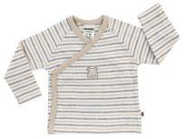 JACKY Zavinovací triko dlouhý rukáv NOS BEAR pruh/béžová - vel. 62