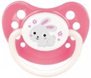 CANPOL BABIES Dudlík silikonový anatomický 18m+ Bunny & Company – růžový