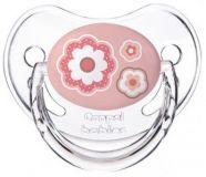 CANPOL BABIES Dudlík silikonový anatomický 0-6m silikon Newborn Baby – růžový