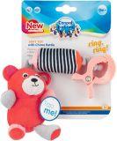 CANPOL BABIES Plyšová hračka s klipom Medvedíky červená