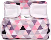 T-TOMI Abdukčné ortopedické nohavičky (3-6 kg) – pink triangles
