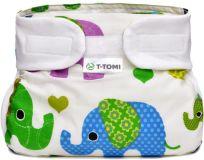 T-TOMI Abdukčné ortopedické nohavičky (3-6 kg) – green elephants