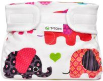 T-TOMI Abdukčné ortopedické nohavičky (3-6 kg) – pink elephants