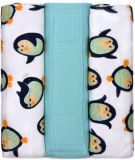 T-TOMI BIO Pieluchy bambusowe 3 szt, 70 x 70 cm – penguins