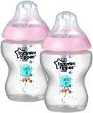 TOMMEE TIPPEE Dojčenská fľaša C2N 2 ks, 260 ml (0 m+) – ružová