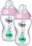 TOMMEE TIPPEE Dojčenská fľaša C2N 2 ks, 340 ml (3 m+) – ružová