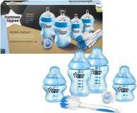 TOMMEE TIPPEE Sada kojeneckých lahviček C2N s kartáčem – modrá