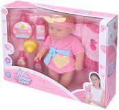 WIKY Lalka niemowlę – zestaw kąpielowy