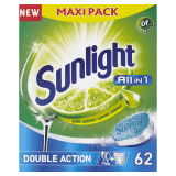 SUNLIGHT All in One Regular 62 szt. – tabletki do zmywarki