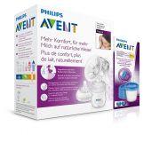 Philips AVENT Odsávačka mateřského mléka Natural se zásobníkem 125 ml + VIA 180 ml 5 ks