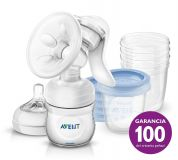 Philips AVENT Odsávačka materského mlieka Natural so zásobníkom 125 ml + VIA 180 ml 5 ks