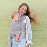 BOBA Nosič dětí / šátek Wrap Bamboo Light Grey