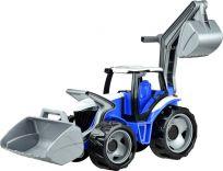 LENA Traktor s lyžicou a bagrom, modro-sivý
