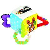 BINO Baby Krecik Interaktywna kostka materiałowa
