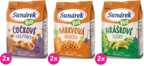 6x SUNÁREK Bio chrumky MIX