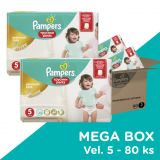 PAMPERS Premium Care Pants 5 JUNIOR 80ks (12-18 kg) - plenkové kalhotky