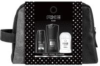 AXE Black dárkové balení s taštičkou – deodorant, tuhý antiperspirant, sprchový gel