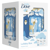 BABY DOVE Rich Moisture darčeková kazeta s hracou skrinkou – šampón, telové mlieko, krém na zapareni