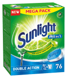 SUNLIGHT All in One Regular 76 ks – tablety do umývačky riadu