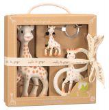 VULLI So'Pure Trio Žirafy Sophie dárkové balení – Žirafa Sophie, kousátko a klíčenka