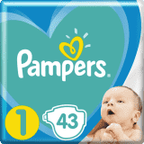 PAMPERS New Baby-Dry 1 (2-5kg) 43 ks – jednorázové pleny