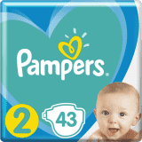 PAMPERS New Baby-Dry 2 (4-8 kg) 43 ks – jednorazové plienky