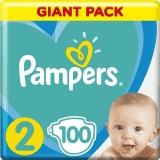 PAMPERS New Baby-Dry 2 (4-8 kg) 100 ks GIANT PACK – jednorazové plienky