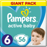 PAMPERS Active Baby 6 (13-18 kg) 56 szt. GIANT PACK – pieluchy jednorazowe