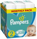 PAMPERS New Baby-Dry 2 (4-8 kg) 228 ks MESAČNÁ ZÁSOBA – jednorazové plienky