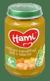 6x HAMI Hráškovo-kukuřičné pyré s telecím (200 g) maso-zeleninový příkrm