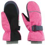 ESITO Dětské zimní rukavice Softshell, růžová melír, vel. 3-4 roky
