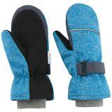 ESITO Dětské zimní rukavice Softshell, tyrkysový melír, vel. 3-4 roky