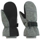 ESITO Dětské zimní rukavice Softshell, šedá melír, vel. 3-4 roky