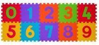 BABYONO Puzzle pěnové číslice 10 ks, 6 m+