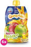 6x OVOCŇÁK Mošt jablko 100% 200 ml - ovocná štáva