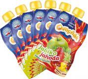 6x OVOCŇÁK Mušt jablko-jahoda 200 ml - ovocná šťava