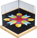 TEDDIES Magnetická tabuľka so zrkadlami drevená 44 ks