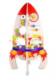 TEDDIES Hrací stůl edukační raketa dřevěný