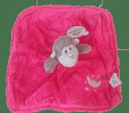 TEDDIES Chrastítko usínáček plyš zvířátko 27x27cm, tmavě růžová