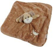 TEDDIES Chrastítko usínáček plyš zvířátko 27x27cm, hnědá