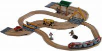 BRIO Vláčiková dráha s osobným vlakom, závorami a priecestím, 33 dielov