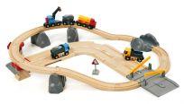 BRIO Vláčiková dráha s nákladným vlakom, podjazdom a cestou