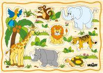 WOODY Komplet puzzli dla dzieci, 6 obrazków