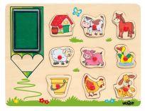 WOODY Puzzle – stempelki zwierzęta