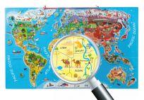 "WOODY Puzzle – mapa świata ""Orbis pictus"""