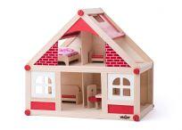 WOODY Domek dla lalek z akcesoriami