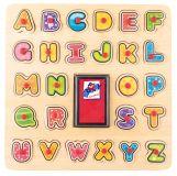 WOODY Puzzle ABC i stempelki z tuszem