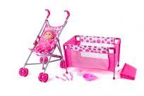 WOODY Baby súprava s golfovým kočíkom pre bábiky